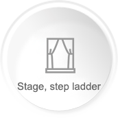 Stage, step ladder